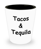 Mexican Tequila shot glasses - Tacos & Tequila - Shot Glass Premium Gifts Ideas