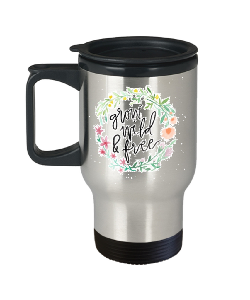 Proverbs Bible quotes , Grow wild and free - Stainless Steel Travel Mug 14 oz Gift