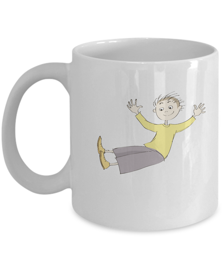 Boy happy coffee mugs - Funny Christmas Kids Gifts - Porcelain White coffee mugs 11 oz
