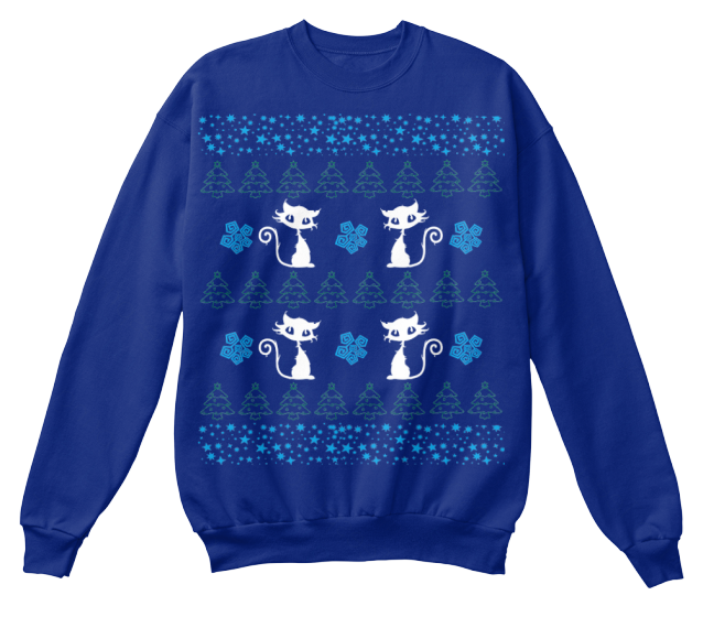 Christmas Cute Cat Ugly Sweater - Zapbest2  - 5