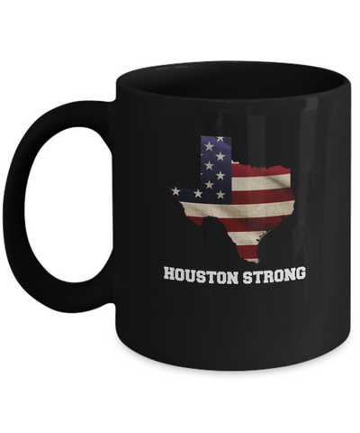 Houston Strong city Coffee mug sets - 11 OZ Black coffee mugs  State Love Gift Idea Cup Funny