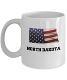 I Love North Dakota Coffee Mugs Coffee mug sets - 11 Oz State Love Gift Idea Tea Cup Funny