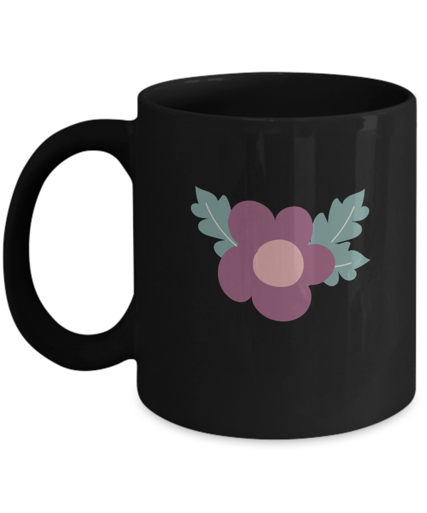 Valentine Flowers Black coffee Mugs - Funny Valentines day Black coffee mugs 11 oz