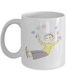 Boy with stars coffee mugs - Funny Christmas Gifts - Porcelain White coffee mugs 11 oz