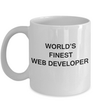 World's Finest Web developer - Porcelain White Funny Coffee Mug 11 OZ Funny Mugs