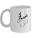 Christmas Doodles Deer Anktler coffee Mugs - Funny Christmas White coffee mugs 11 oz