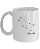 Gemini Zodiac Name Constellation Coffee Mug White Unique Large White coffee mugs 11 oz