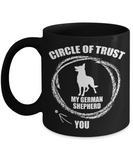 Personalized Dog Lover Coffee mug,I Trust My German Shepherd more than you-Black Porcelain Coffee Mug 11 oz
