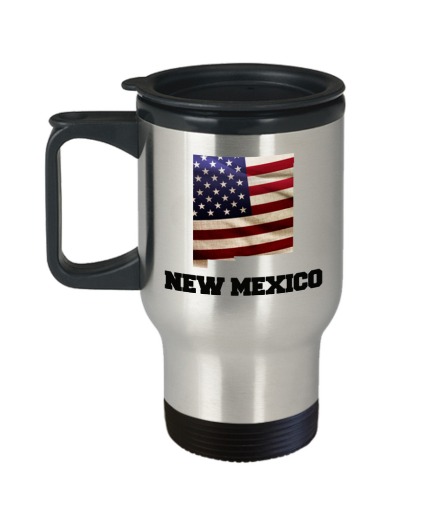 I Love New Mexico Travel Coffee Mugs Travel Coffee Cup sets - Travel Mug Travel Coffee Mugs Tea Cups 14 OZ Gift Ideas State Love Gift Idea