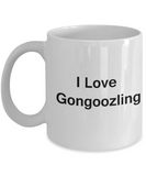Funny Coffee Mug - I Love Gongoozling - Valentines Gifts - Porcelain White Funny Coffee Mug, Best Office Tea Mug & Coffee Cup Gifts 11 OZ