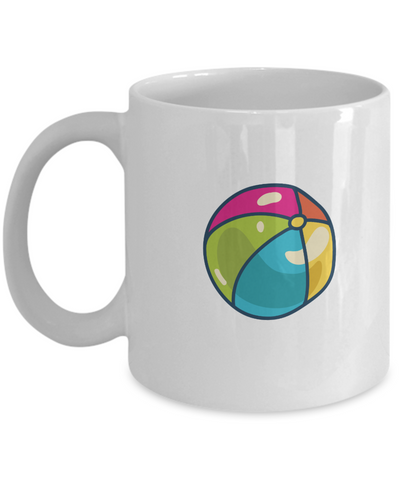 Ball Funny white mugs - Funny Christmas Gifts - Porcelain Funny White coffee mugs 11 oz