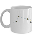 Aries Constellation Coffee Mug White Unique Large Big White Coffee cup-Stars Appear in the White Sky-11 OZ-Ceramic-Gifts for   Birthday,Christmas-Aries - 11 OZ Funny Coffee mugs tea cup Gift Ideas White Coffee mugs