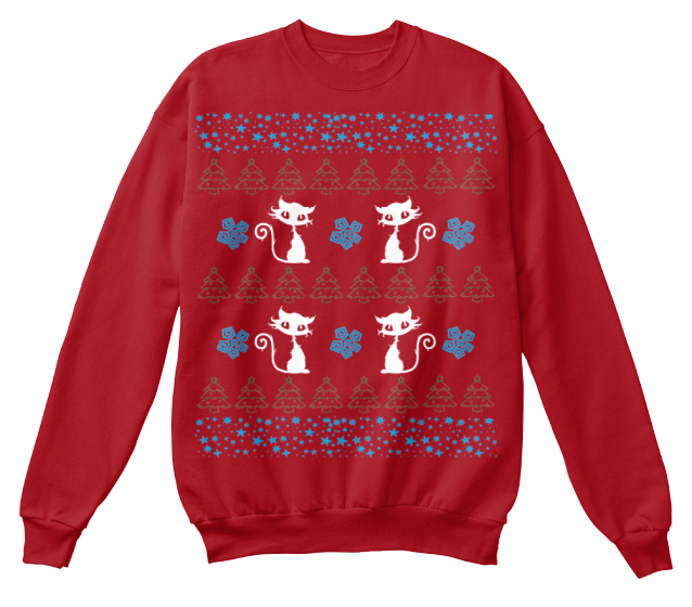 Christmas Cute Cat Ugly Sweater - Zapbest2  - 7