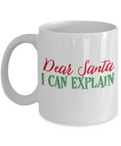 Rumbles the cloud and santa's greatest gift - Dear Santa, I can explain - Funny Santa Gift Mugs, Christmas Gifts for family Ceramic Cup White, Funny Mugs Gift Ideas 11 Oz