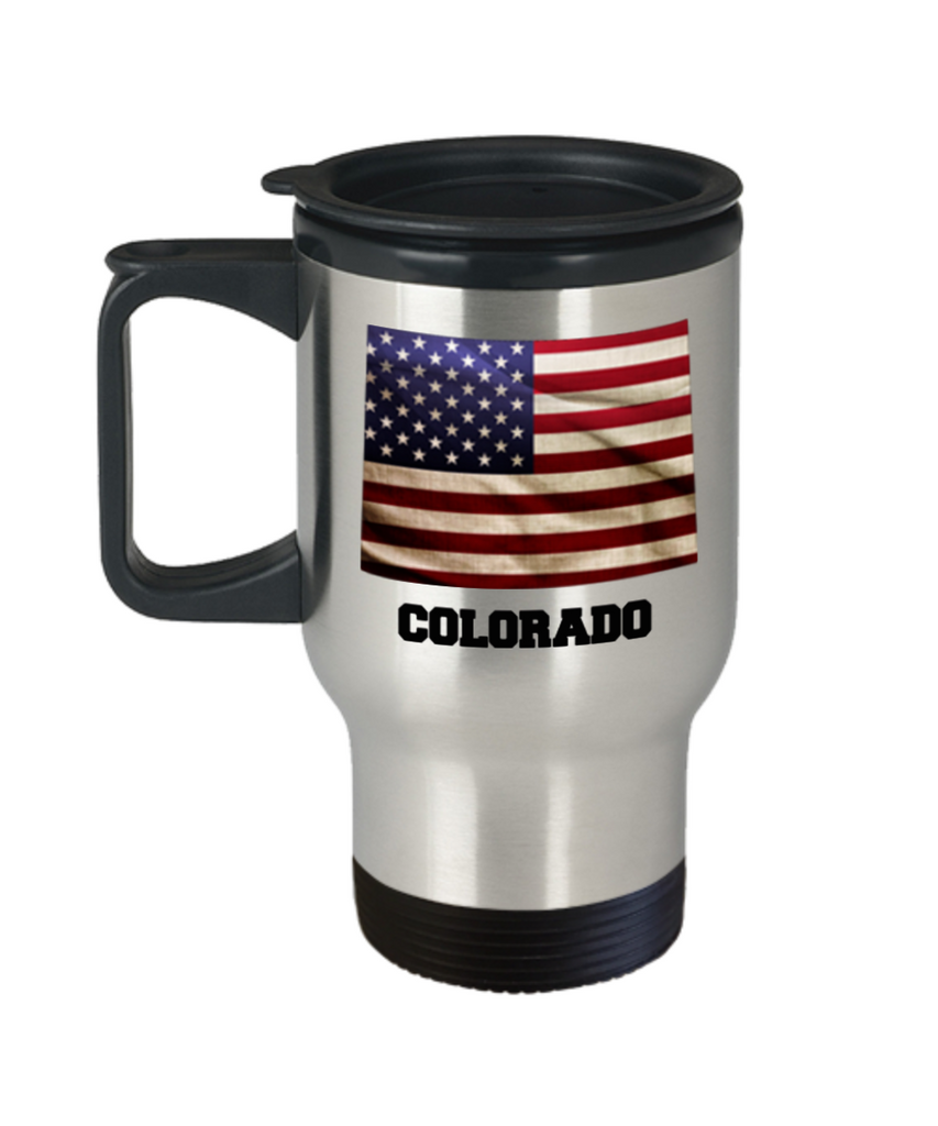 I Love Colorado Travel Coffee Mugs Travel Coffee Cup sets - Travel Mug Travel Coffee Mugs Tea Cups 14 OZ Gift Ideas State Love Gift Idea