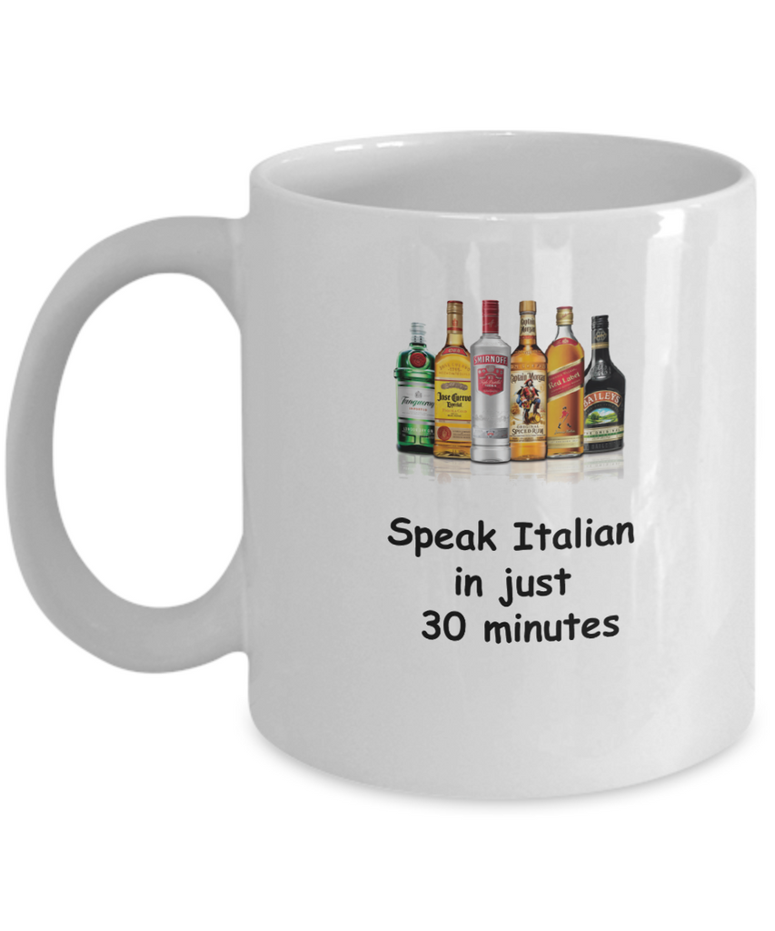 Speak Italian in 30 Minutes Funny coffee mugs - Funny Christmas White coffee mugs 11 o