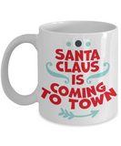 Rumbles the cloud and santa's greatest gift - Santa Claus is coming to Town - Funny Santa Gift Mugs, Christmas Gifts for family Ceramic Cup White, Funny Mugs Gift Ideas 11 Oz