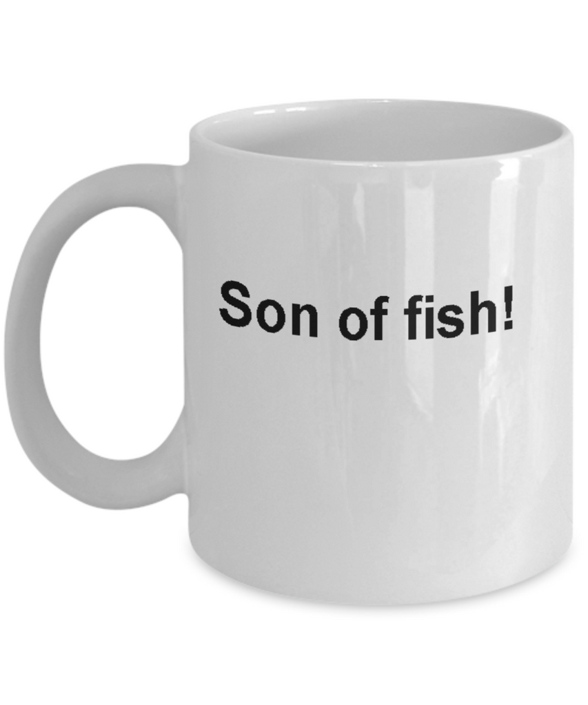 Funny fishing coffee cups -Son of fish -Funny Christmas Gifts  Gag Gifts 11 oz