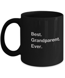 Best Grandparent Ever Black Mugs - Funny Valentine coffee mugs - Black coffee mugs 11 oz