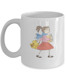 Girl going school coffee mugs - Funny Christmas Kids Gifts White coffee mugs 11 oz
