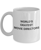 Gifts for Movie Directors - World's Okayest Movie Directors - Birthday Gifts Ceramic Cup White, Funny Mugs Gift Ideas 11 Oz