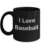 Baseball coffee mug - Porcelain Black Funny Coffee Mug, Best Office Tea Mug & Coffee Cup Gifts 11 oz