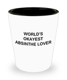 Funny shot glasse - World's Okayest Absinthe Lover - Shot Glass Premium Gifts Ideas