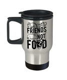 Gift gor Animals lovers , Friends not Food - Stainless Steel Travel Insulated Tumblers Mug 14 oz - Great Gift