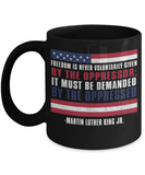 Martin luther king jr malcom x and the civil rights struggle, Freedom Struggle Speech for Oppressed - Black Porcelain Coffee Mug Cute Ceramic Cup 11 oz