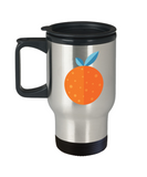 Orange travel mugs - Funny Christmas Gifts - Porcelain 14 oz Travel mugs