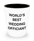 Awesome wedding officiant shot glasses gift - World's Best Wedding Officiant - Shot Glass Premium Gifts Ideas