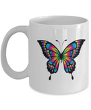 Funny Coffee Mug - ButterFly Lovers Mugs - Funny Farm Pet Animal Lover Saying Home Office Coffee Mug Tea Cup White 11 OZ