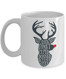 Knightmare before christmas mug - Reindeer Names - Funny Christmas Gift Mugs, Christmas Gifts for family Ceramic Cup White, Funny Mugs Gift Ideas 11 Oz