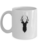 Christmas Deer Antler 1 coffee mugs - Funny Christmas Gifts -  White coffee mugs 11 oz