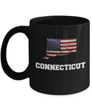 I Love Connecticut Coffee mug sets - 11 OZ Black coffee mugs  State Love Gift Idea Cup Funny