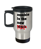 Plants vs zombies gift box mugs , Zombie is the new Black - Stainless Steel Travel Insulated Tumblers Mug 14 oz - Great Gift
