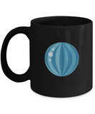 Beach blue ball Black Mugs - Funny Christmas Gifts -Black Coffee Mug Birthday Gag Gifts 11 oz