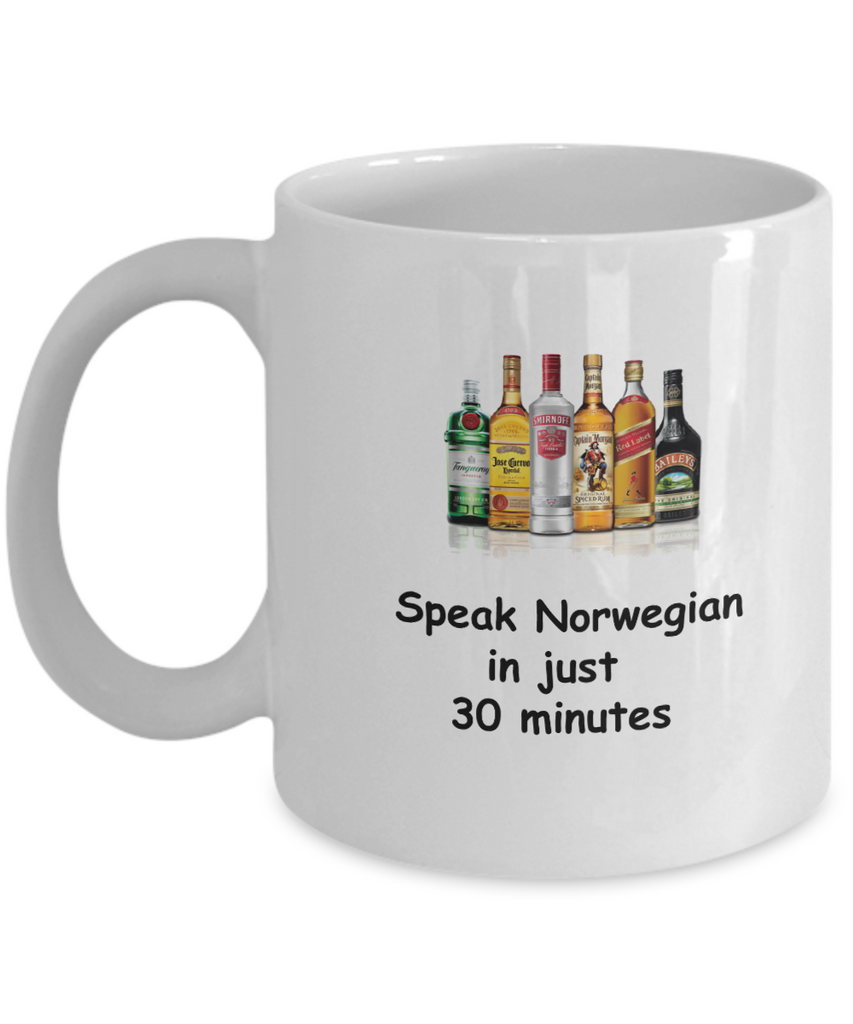 Speak Norwegian in 30 Minutes Funny coffee mugs - Funny Christmas White coffee mugs 11 o