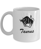 Taurus - taurus Coffee Mug - taurus Zodiac Mug - Zodiac - White coffee mugs 11 oz