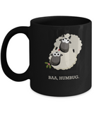 Baa Humbug christmas special black coffee mugs-  Black coffee tea mugs - 11 OZ Black coffee mugs and tea cups Gift Ideas