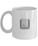 Fml - White Coffee Mug Porcelain Tea Cup 11 oz - Great Gift