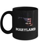 I Love Maryland Coffee Mugs Coffee mug sets - Black coffee mugs 11 oz