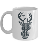 Knightmare before christmas mug - Merry Christmas Deer - Funny Christmas Gift Mugs, Christmas Gifts for family Ceramic Cup White, Funny Mugs Gift Ideas 11 Oz