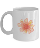 Flowers and Leaves 7 coffee mugs - Funny Christmas Gifts White coffee mugs 11 oz