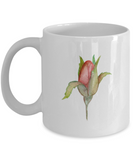 Flowers and Leaves 10 coffee mugs - Funny Christmas Gifts White coffee mugs 11 oz