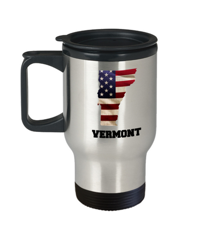 I Love Vermont Travel Coffee Mugs Travel Coffee Cup sets - 14 oz Travel mugs