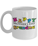 Happy Mother's Day Grandma Coffee Mug - White Porcelain Coffee Cup,Premium 11 oz White coffee cup