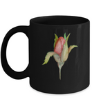 Flowers and Leaves 10 Black Mugs - Funny Christmas Kids Gifts Black coffee mugs 11 oz