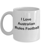 Football/Soccer Lovers Gifts Sports - I Love Australian Football White coffee mugs 11 oz