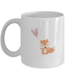 Foxy Valentine white mugs - Funny Christmas Gifts - Funny White coffee mugs 11 oz